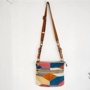 Fossil Patchwork Crossbody Bag Adjustable S
